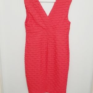 NWT Jessica Coral Textured Dress Size 14